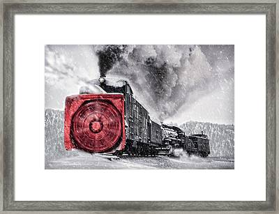 Clearing The Tracks Framed Print by Ken Smith