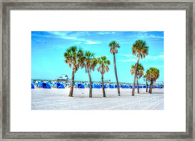 Clearwater Beach Framed Print by Debbi Granruth