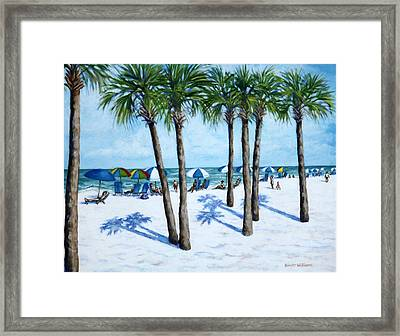 Clearwater Beach Morning Framed Print