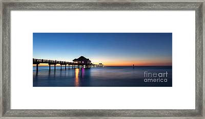 Clearwater Beach Pier Framed Print by Steven Reed