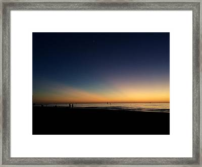 Clearwater Beach Sunset 1 Framed Print