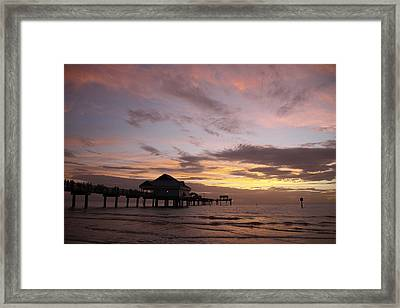 Clearwater Beach Sunset Framed Print by Lori  Burrows