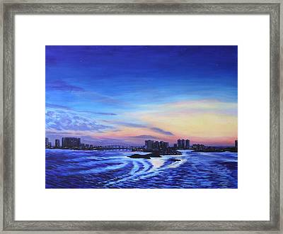Clearwater Beach Sunset Framed Print