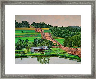 Clearwater Framed Print by Kenneth Cobb