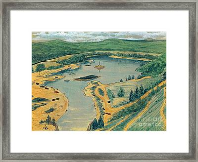 Framed Print featuring the painting Clearwater Lake Early Days by Kip DeVore