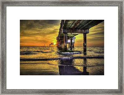 Clearwater Pier Framed Print