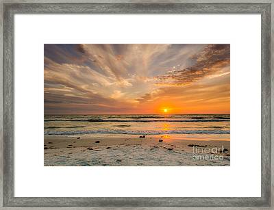 Clearwater Sunset Framed Print by Mike Ste Marie