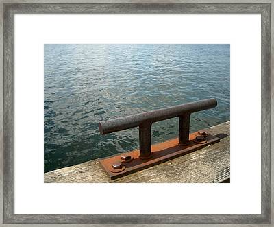 Cleat And Water Framed Print