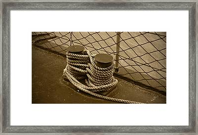 Cleat Framed Print by Richard Booth