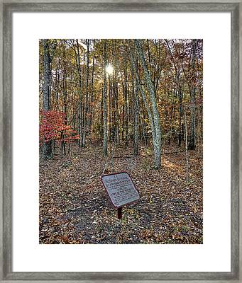 Cleburne Tablet Framed Print
