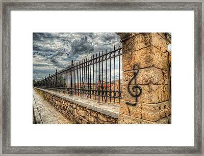 Framed Print featuring the photograph Clef At Hadrian's Library by Micah Goff