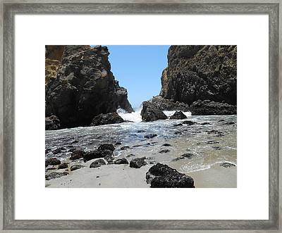 Cleft Framed Print
