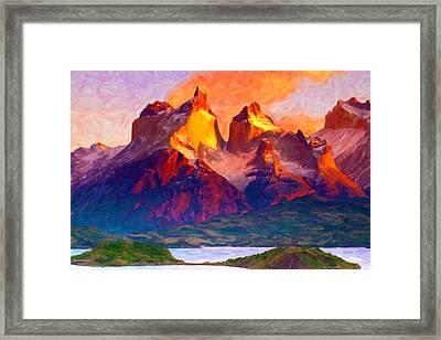 Cleft Summit Framed Print