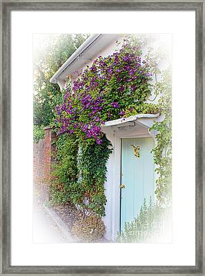 Clematis Around The Door Framed Print
