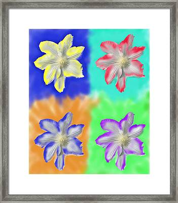 Clematis Osmosis Three Framed Print