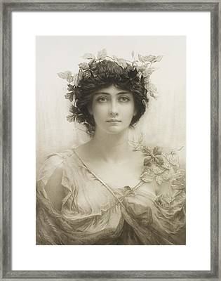 Clematis Framed Print by Sir Hubert von Herkomer