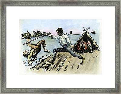 Clemens Huck Finn, 1884 Framed Print