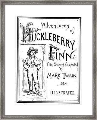 Clemens Huckleberry Finn Framed Print