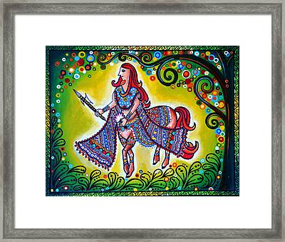 Clement Combatant Framed Print by Deepti Mittal