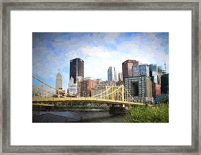 Clemente Bridge Painting Framed Print by Stephen Falavolito
