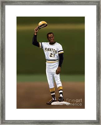 Clemente's 3000th Hit Framed Print