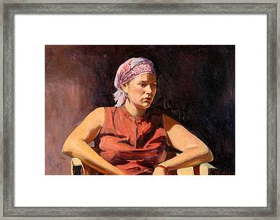 Clementine, 2004 Oil On Canvas Framed Print