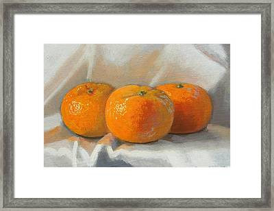 Clementines Framed Print by Peter Orrock