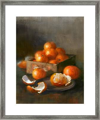 Clementines Framed Print by Robert Papp