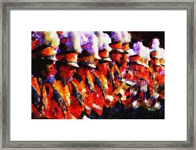 Clemson Tiger Band - Afremov-style Framed Print