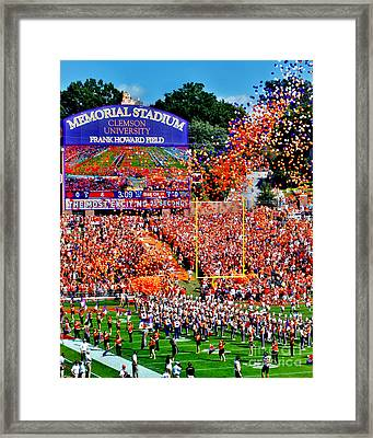 Clemson Tigers Memorial Stadium Framed Print