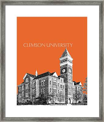Clemson University - Coral Framed Print by DB Artist