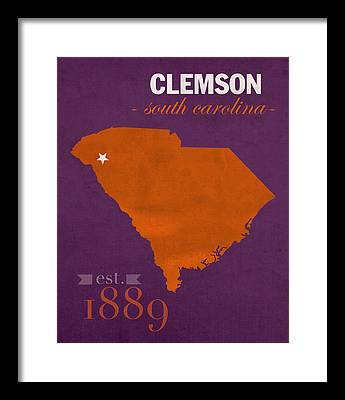 Clemson Framed Prints