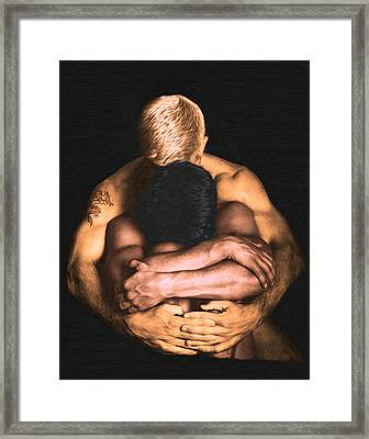 Clenched  Framed Print by Troy Caperton