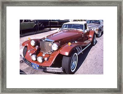 Clenet On Rolls Royce Row Framed Print by Robert  Rodvik