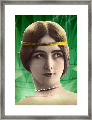 Cleo De Merode As Cleo D'emeraude Framed Print by Rodger Insh