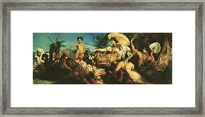 Cleopatra, 1875 Oil On Canvas Framed Print by Hans Makart