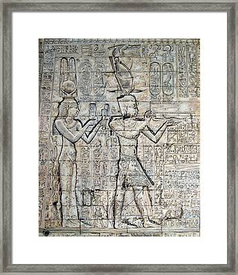 Cleopatra And Caesarion Framed Print