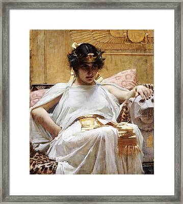Cleopatra, C.1887 Oil On Canvas Framed Print by John William Waterhouse