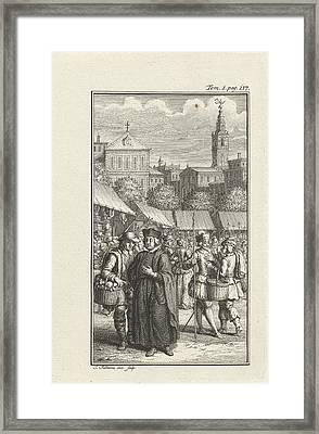 Clergyman Robbed By A Thief, Jacob Folkema Framed Print by Jacob Folkema