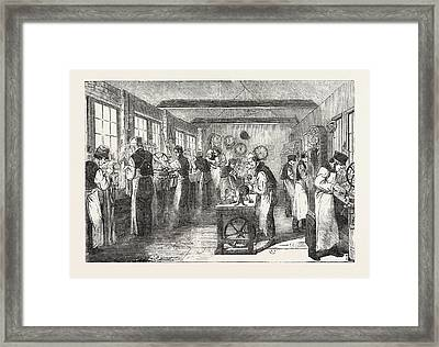 Clerkenwell Clock Factory The Regulator And General Clock Framed Print by English School