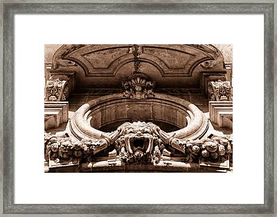Clermont Architecture Toned Framed Print by Georgia Fowler
