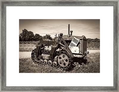 Cletrac Framed Print by Debra and Dave Vanderlaan