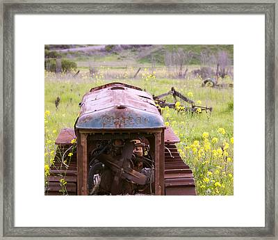 Cletrac Tractor In Fairfield Framed Print