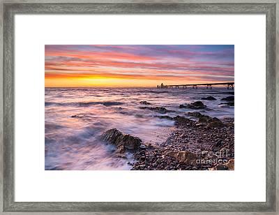 Clevedon Sunset Framed Print by Daugirdas Racys