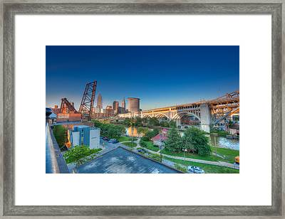 Cleveland Abstract Hdr Framed Print