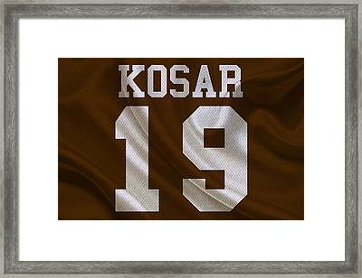 Cleveland Browns Bernie Kosar Framed Print by Joe Hamilton