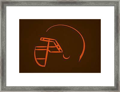 Cleveland Browns Helmet Framed Print