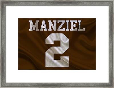 Cleveland Browns Johnny Manziel Framed Print by Joe Hamilton
