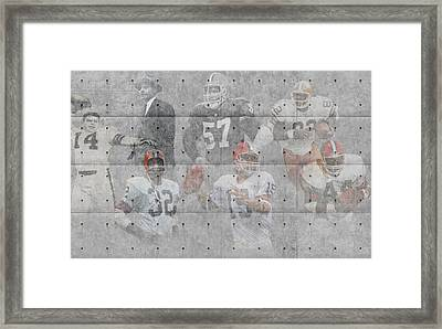 Cleveland Browns Legends Framed Print by Joe Hamilton