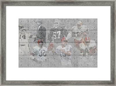 Cleveland Browns Legends Framed Print